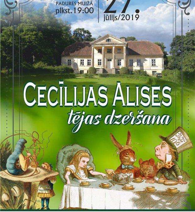 Cecilia's Alice's tea drinking